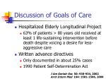 discussion of goals of care15