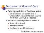 discussion of goals of care16