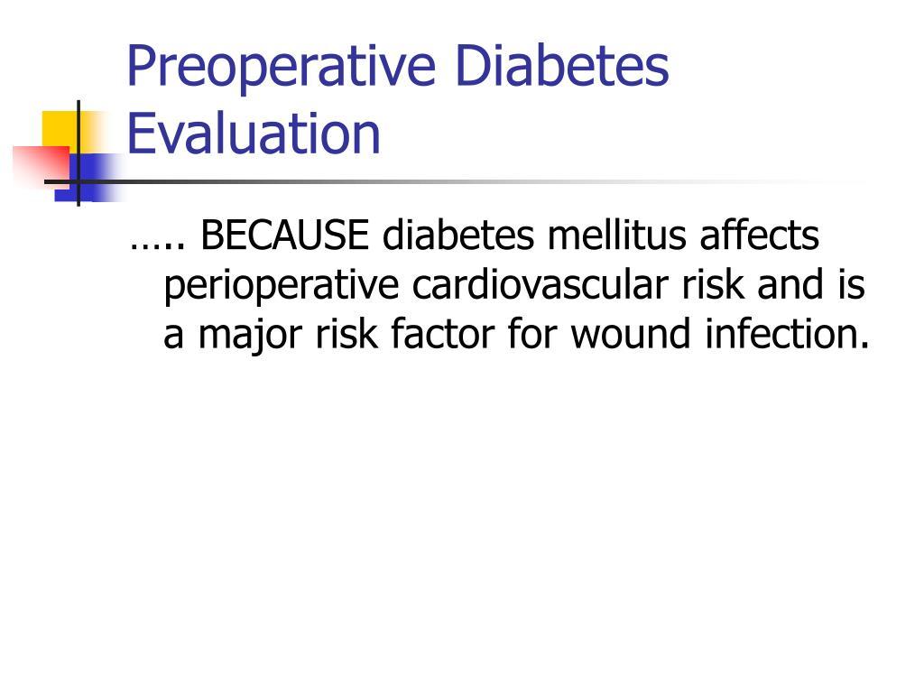 Preoperative Diabetes Evaluation