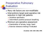 preoperative pulmonary evaluation21