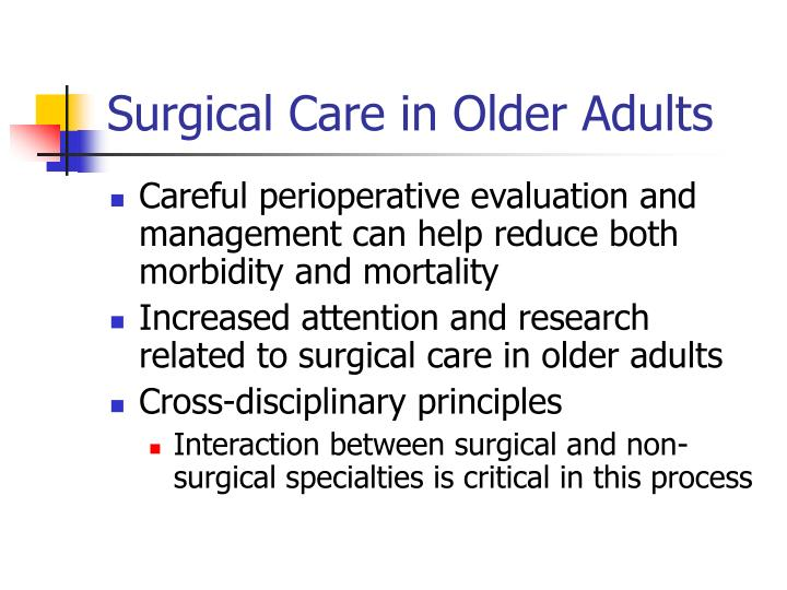 Surgical care in older adults3
