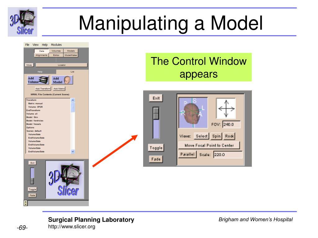 Manipulating a Model
