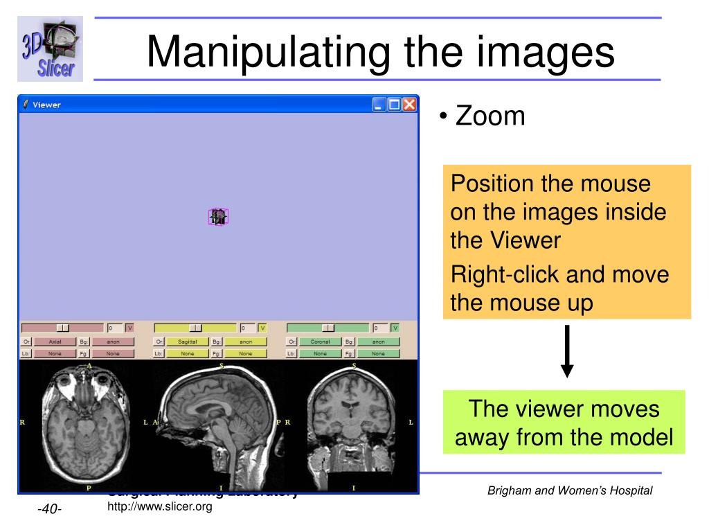 Manipulating the images