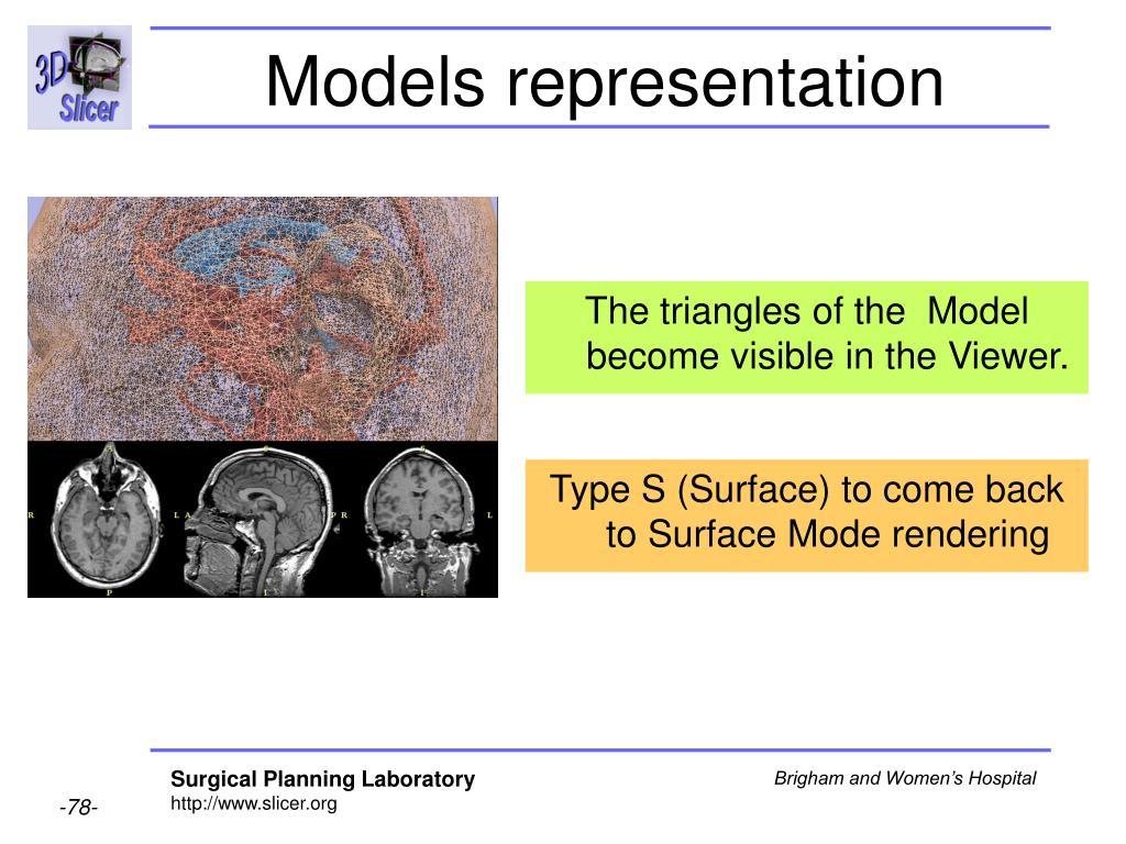 Models representation