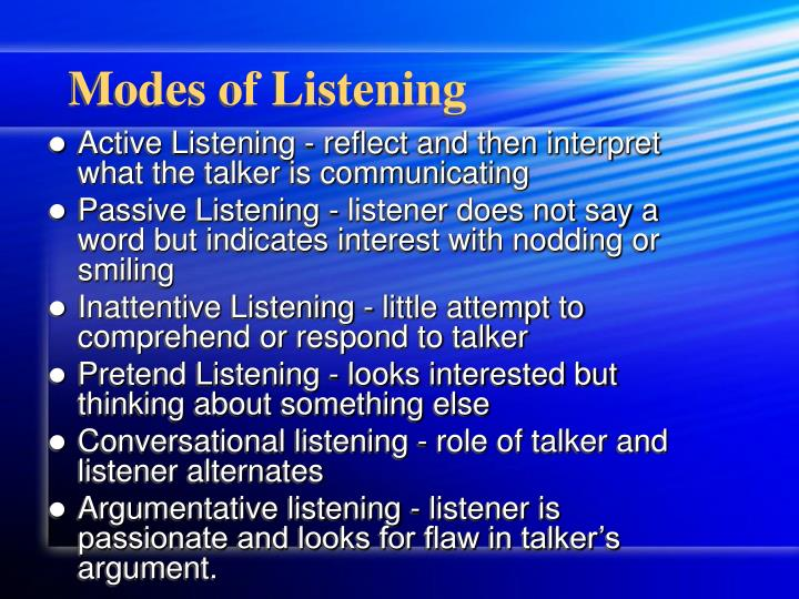 Modes of Listening