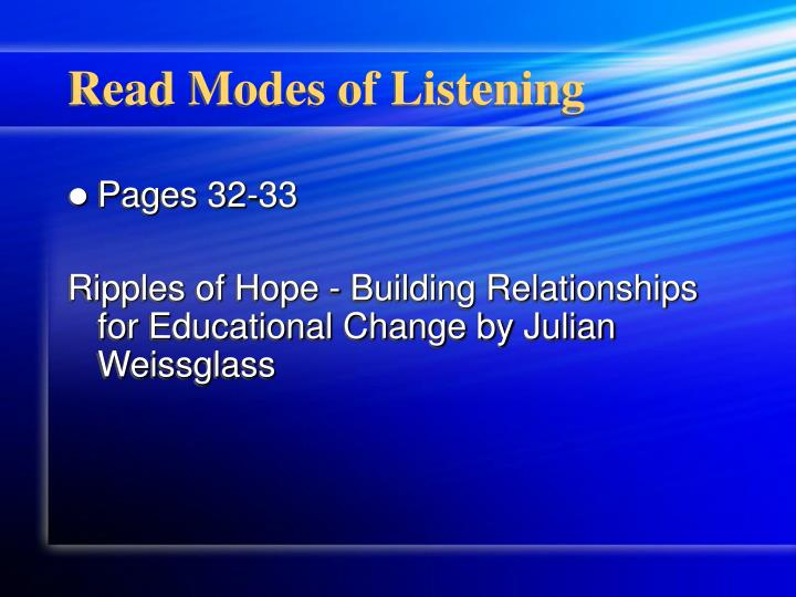 Read Modes of Listening