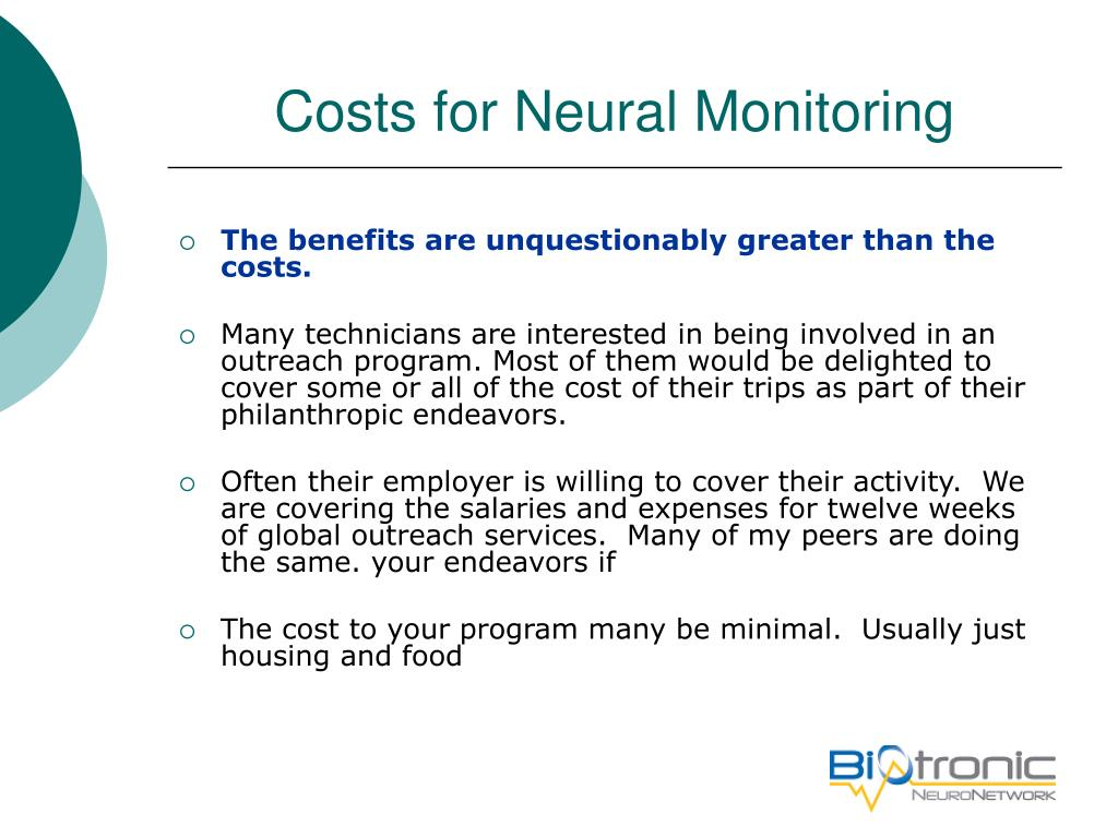 Costs for Neural Monitoring