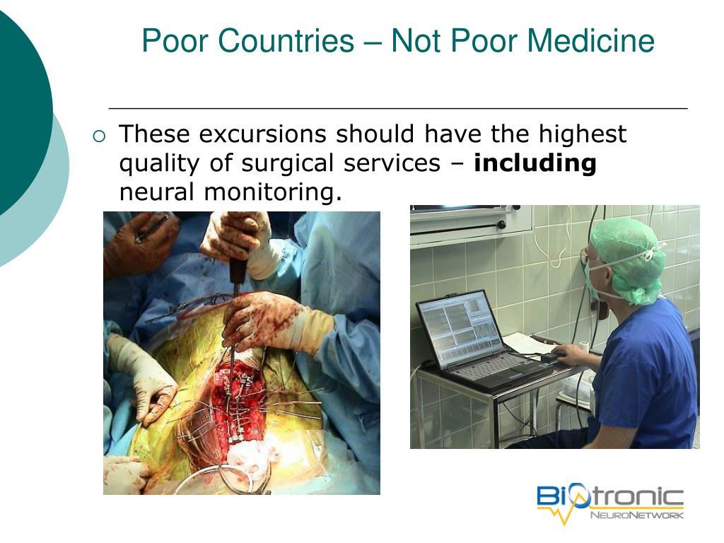 Poor Countries – Not Poor Medicine