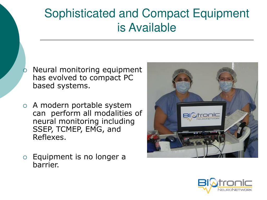 Sophisticated and Compact Equipment is Available