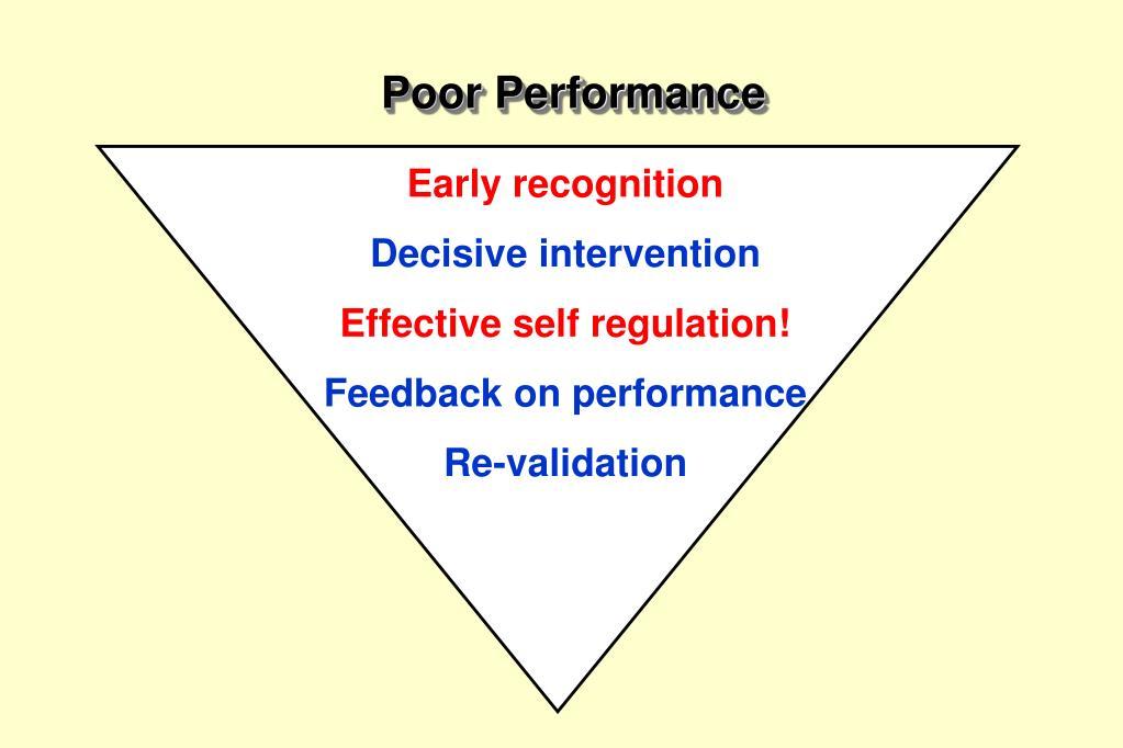 Poor Performance