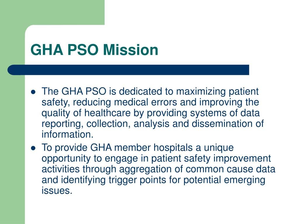 GHA PSO Mission