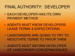 final authority developer