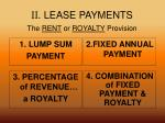 ii lease payments