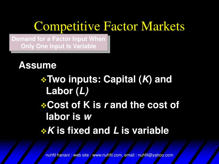 Competitive Factor Markets