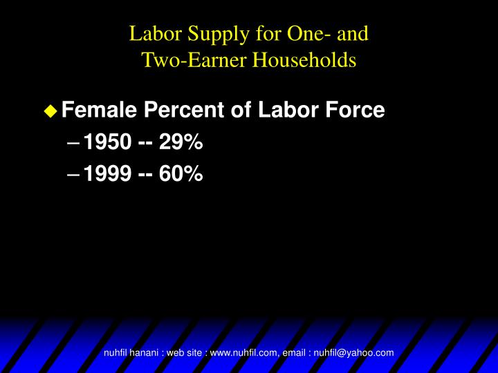 Labor Supply for One- and