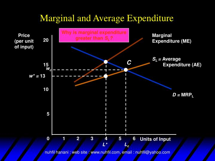 Why is marginal expenditure