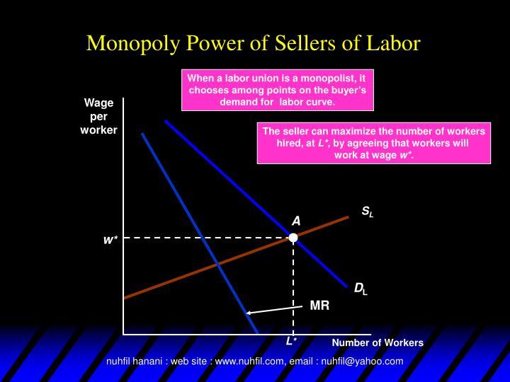 When a labor union is a monopolist, it