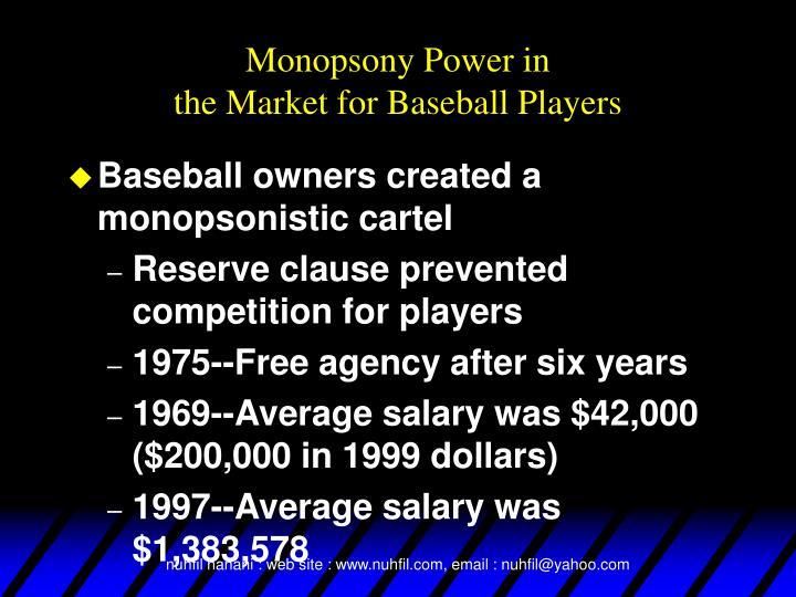 Monopsony Power in
