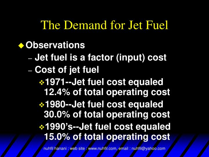 The Demand for Jet Fuel