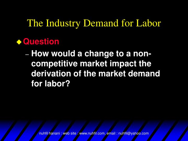 The Industry Demand for Labor