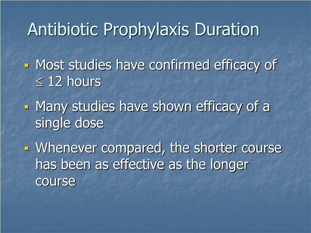 Antibiotic Prophylaxis Duration