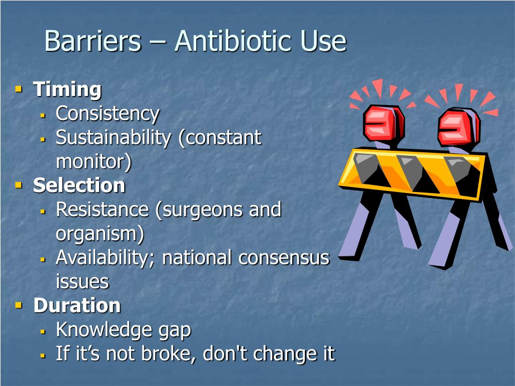 Barriers – Antibiotic Use