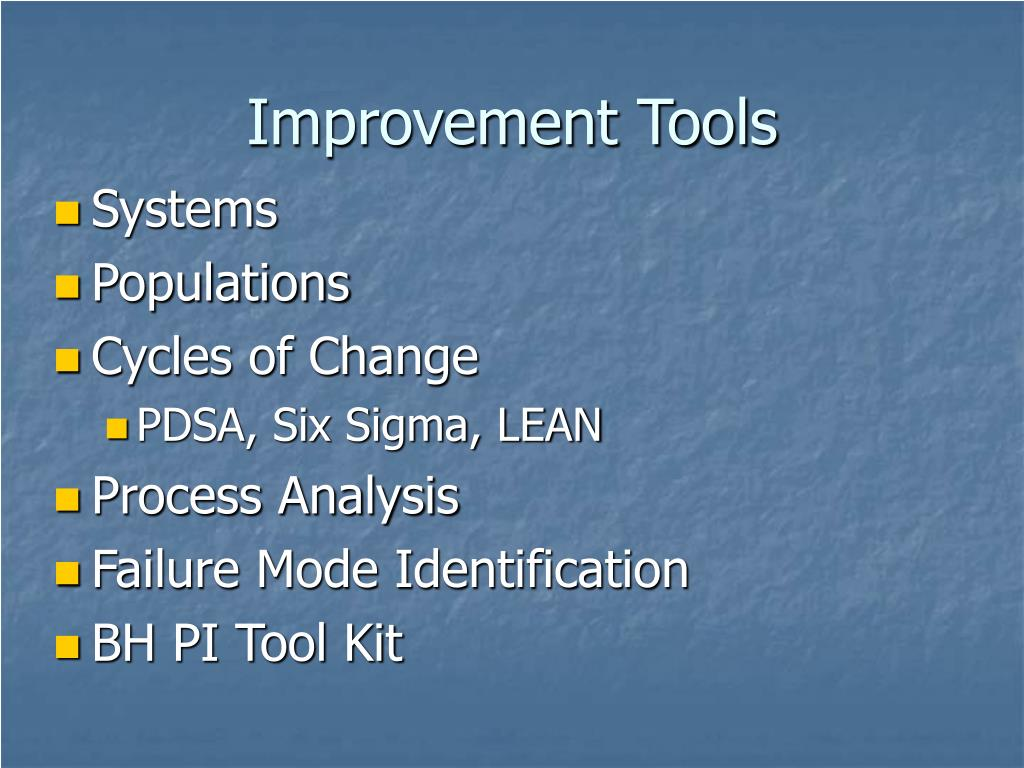 Improvement Tools