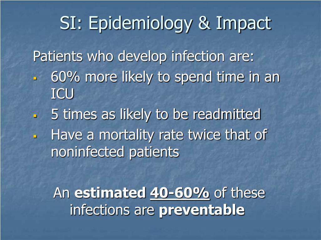 SI: Epidemiology & Impact