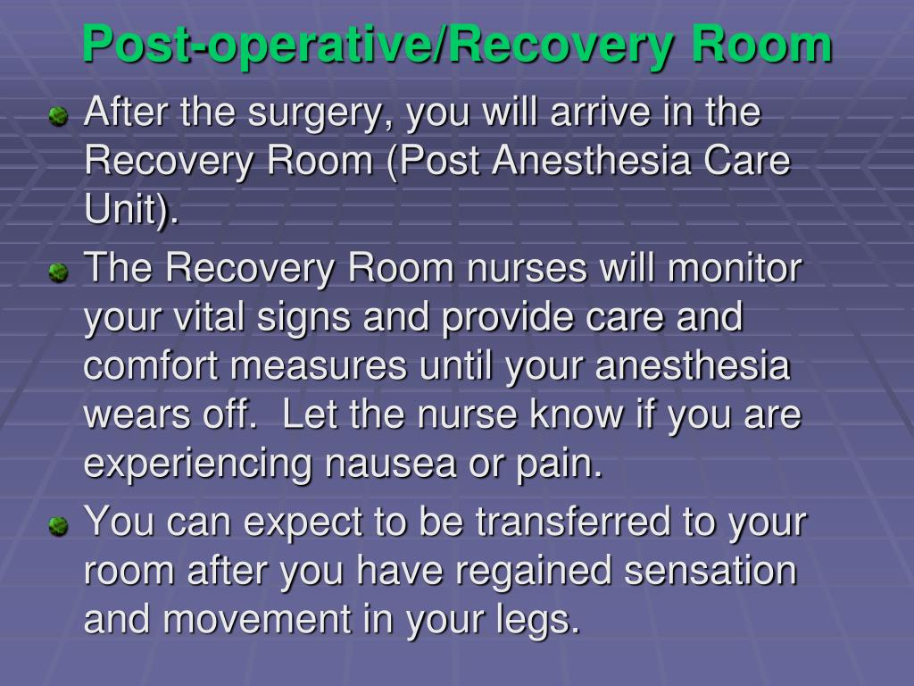 Post-operative/Recovery Room
