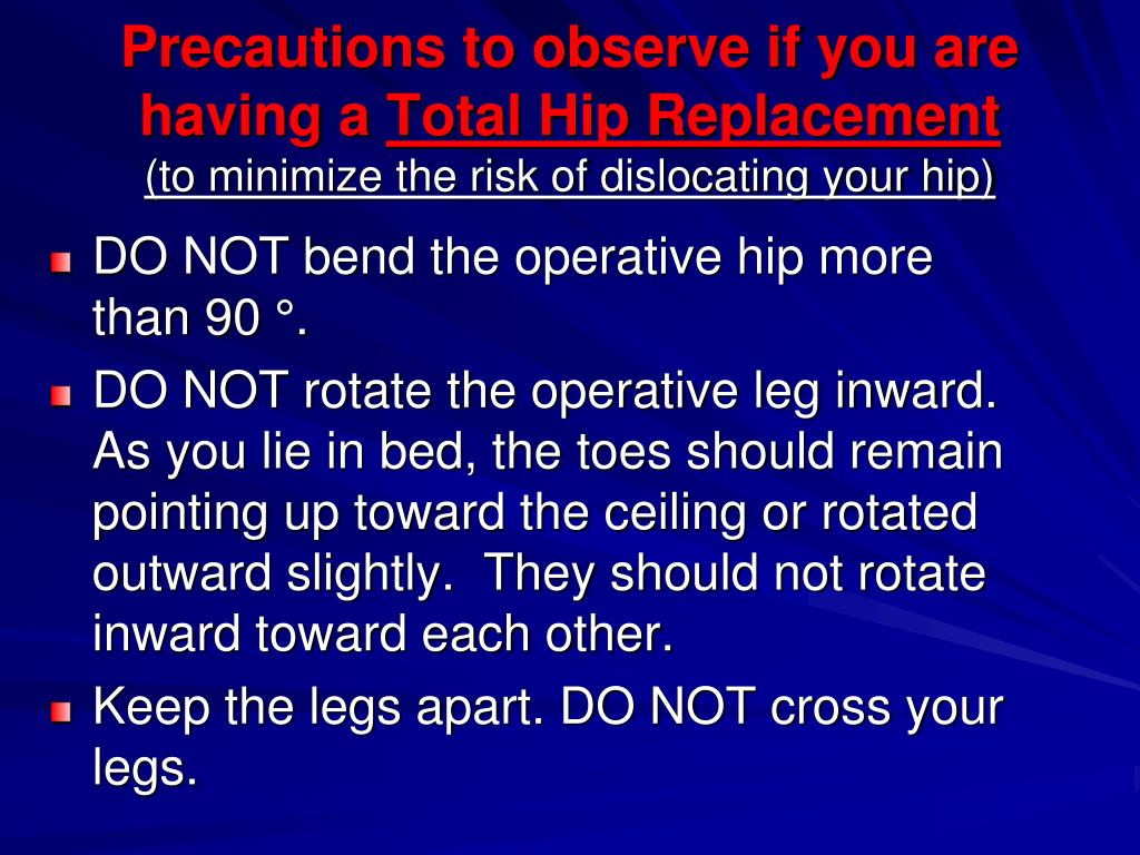 Precautions to observe if you are having a