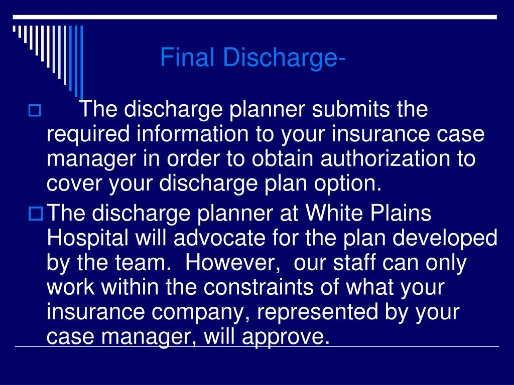 Final Discharge-