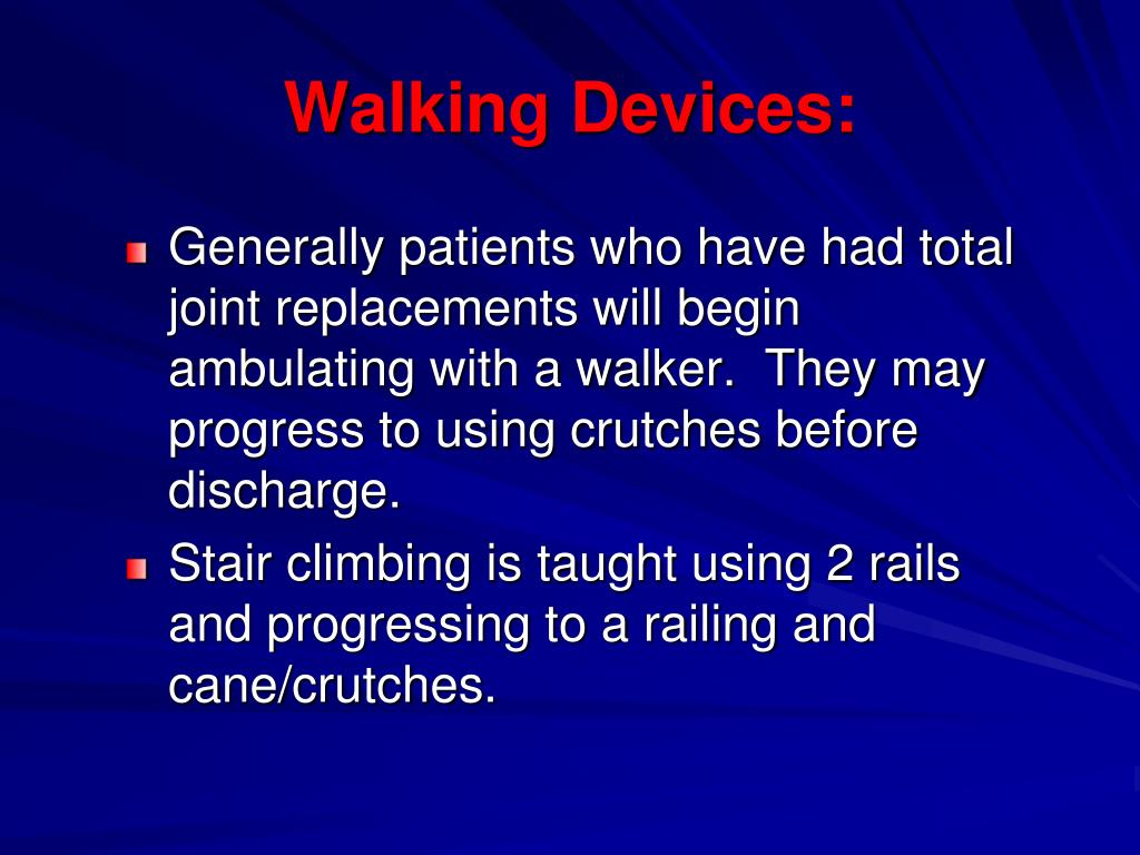 Walking Devices: