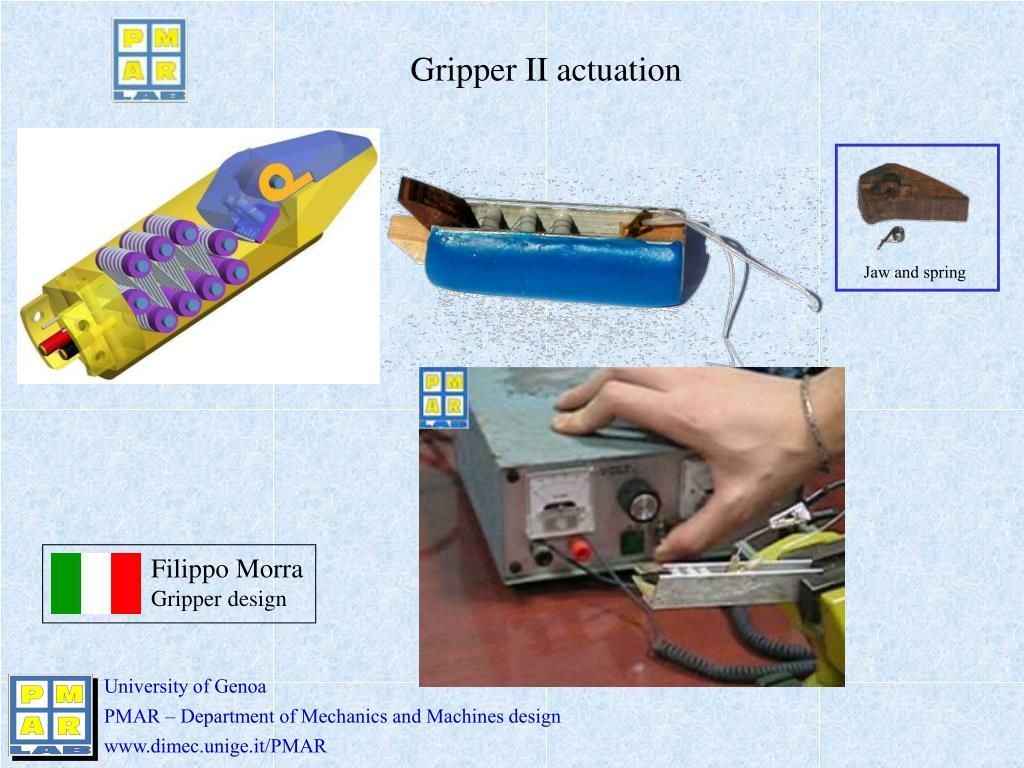 Gripper II actuation