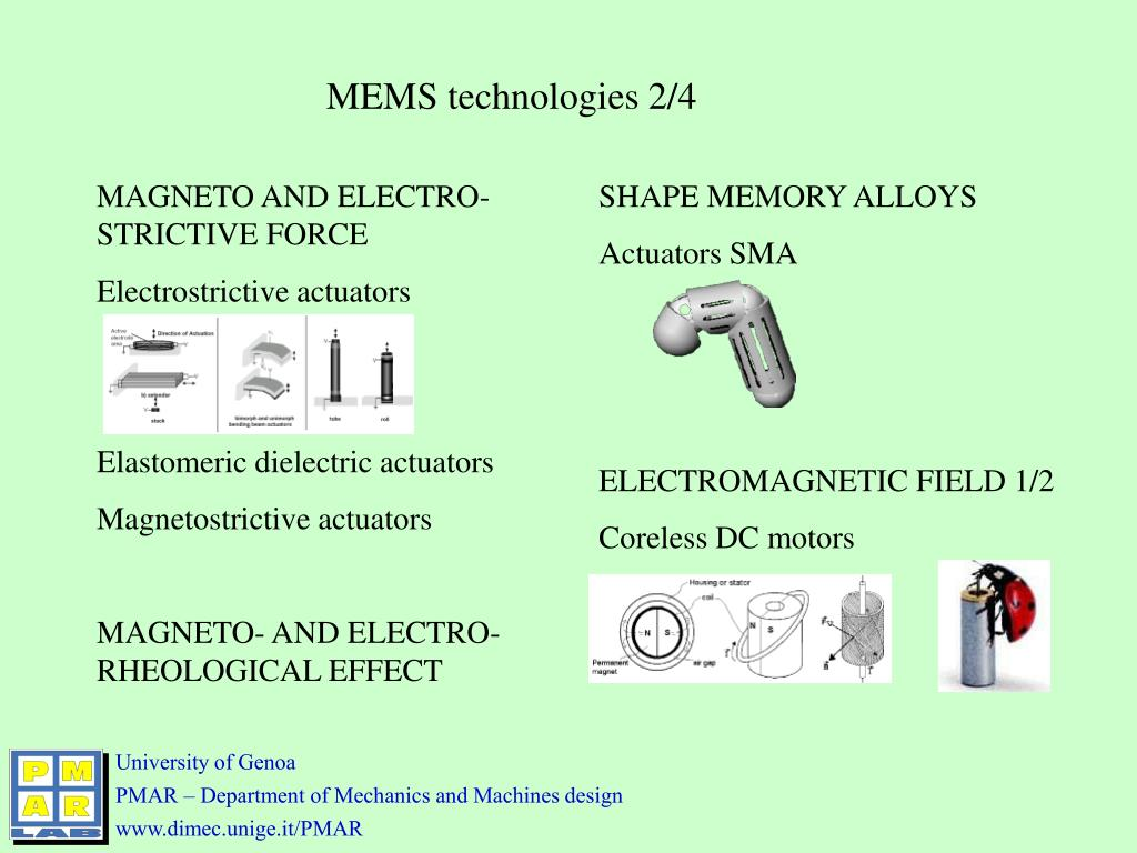 MEMS technologies 2/4