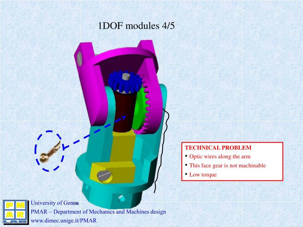 1DOF modules 4/5