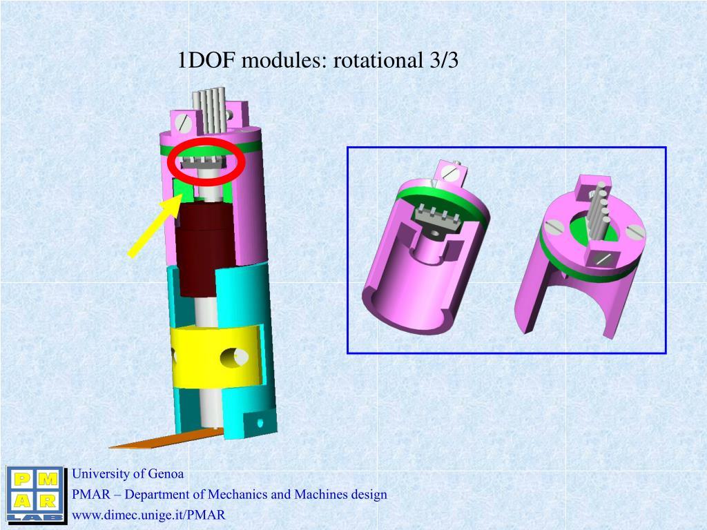 1DOF modules: rotational 3/3