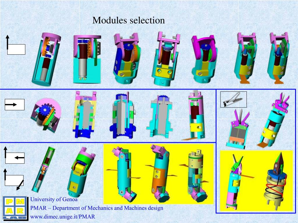 Modules selection