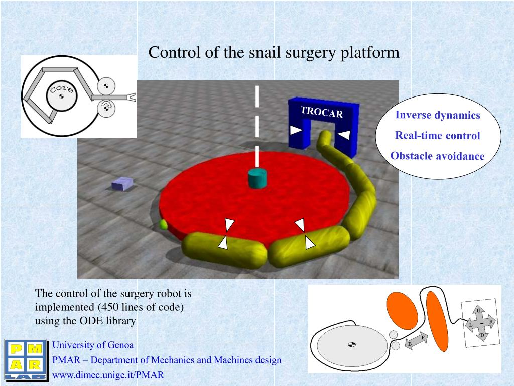 Control of the snail surgery platform
