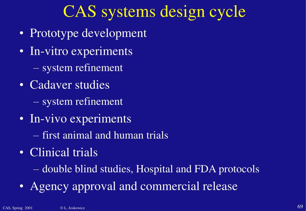 CAS systems design cycle