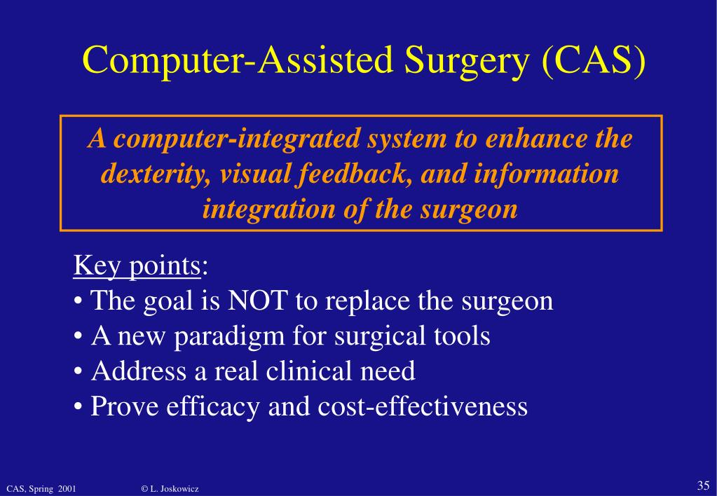 Computer-Assisted Surgery (CAS)