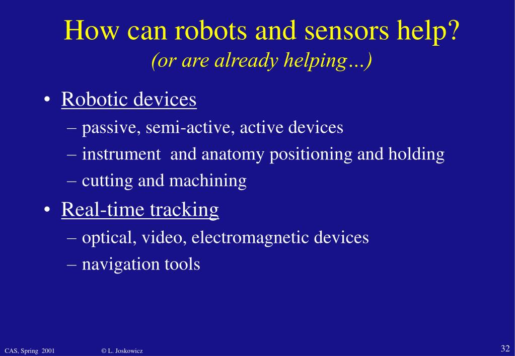 How can robots and sensors help?