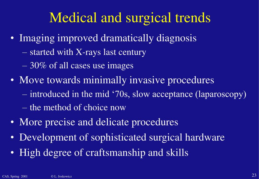 Medical and surgical trends