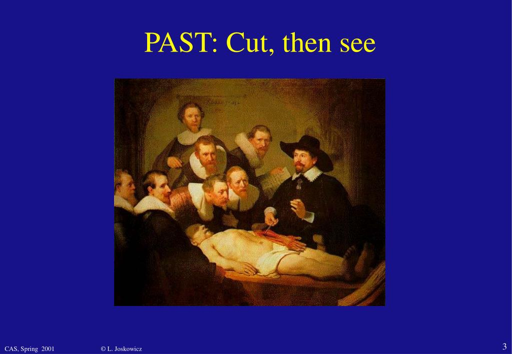 PAST: Cut, then see