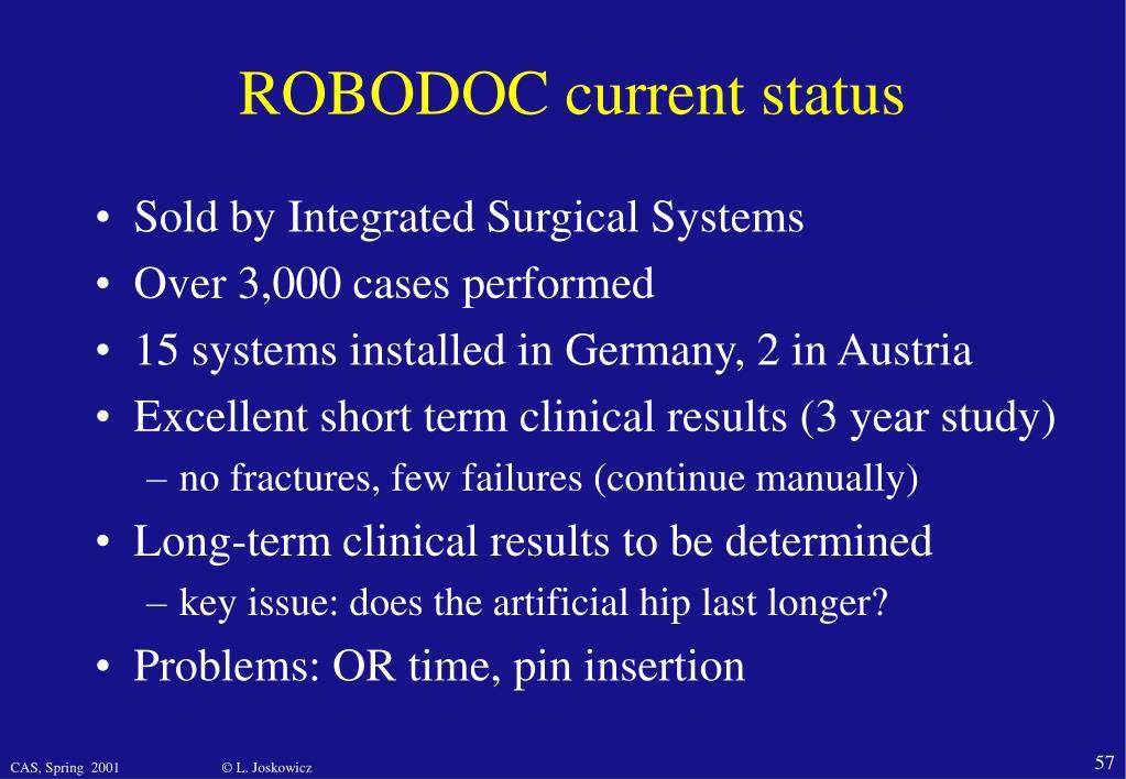 ROBODOC current status