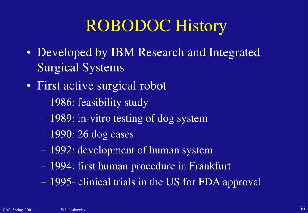 ROBODOC History