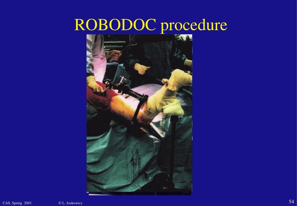 ROBODOC procedure