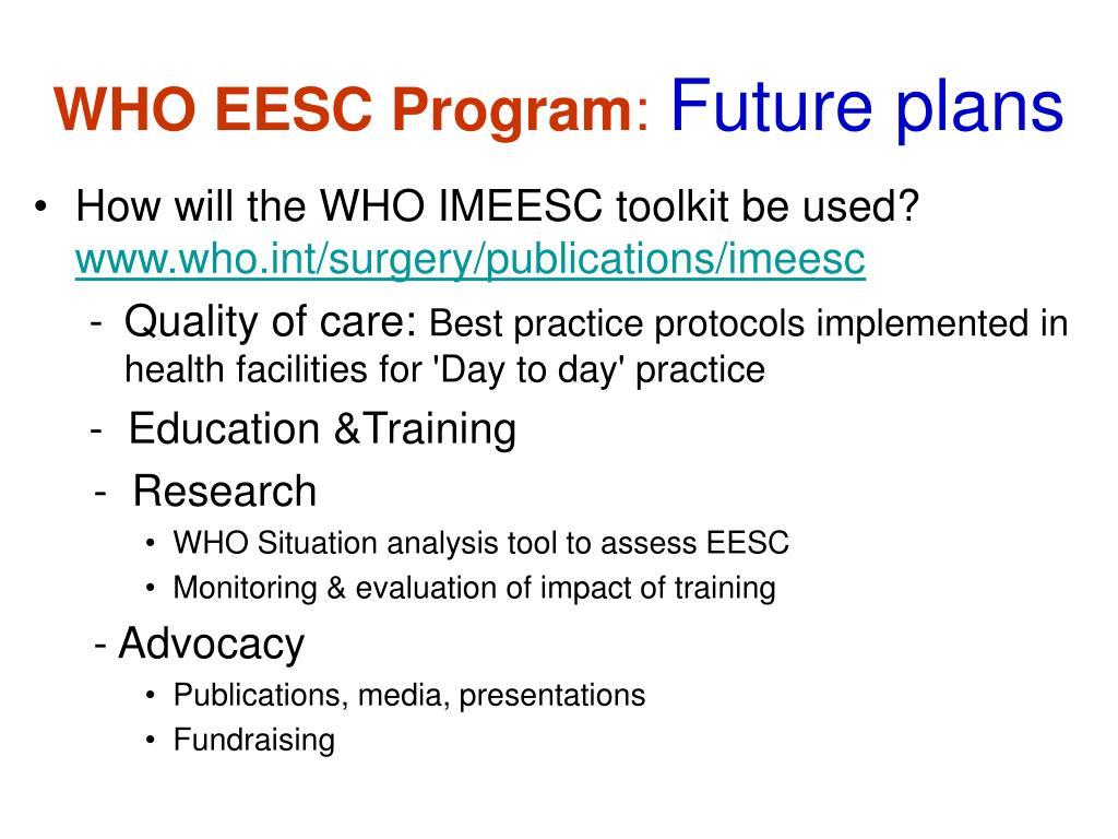 WHO EESC Program