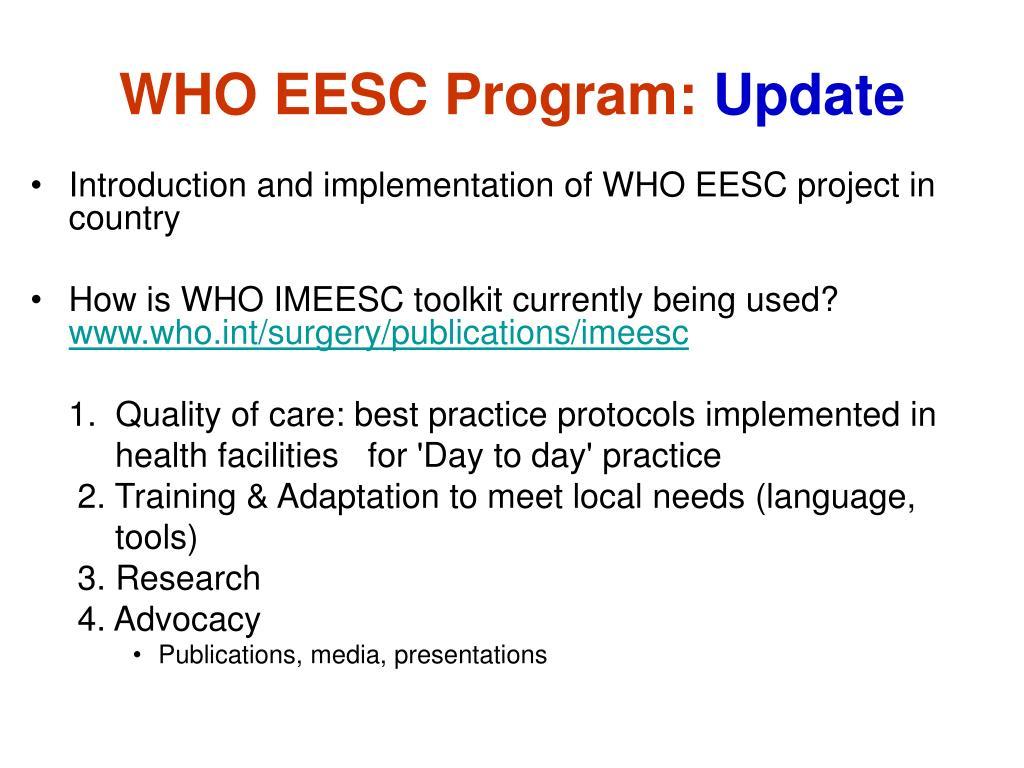 WHO EESC Program: