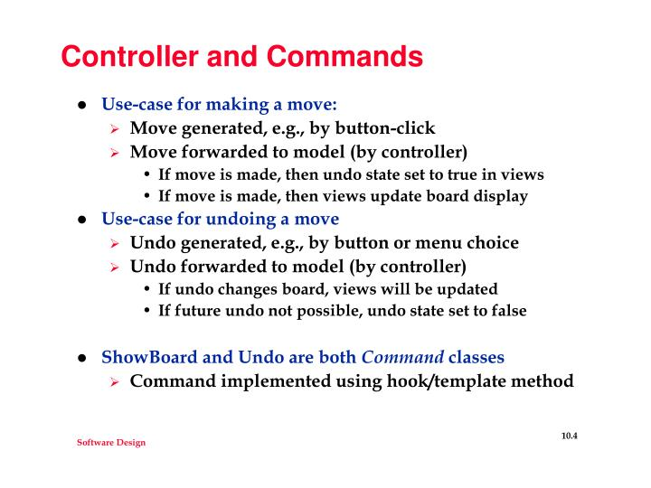 Controller and Commands