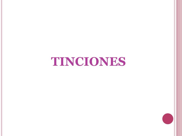 TINCIONES